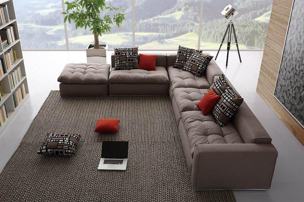 grand canapé d'angle modulaire
