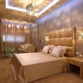 appliques dans la chambre au-dessus des idées d'options de lit