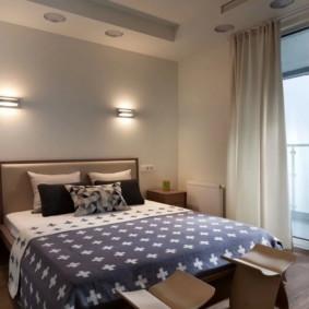 appliques dans la chambre au-dessus des idées de lit