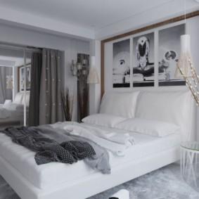 appliques dans la chambre au-dessus des idées de lit photo