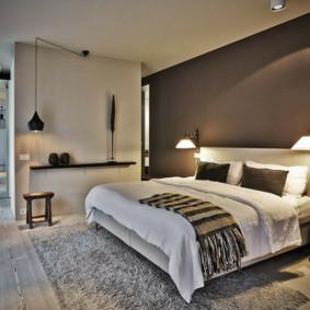 appliques dans la chambre au-dessus des idées de photo de lit