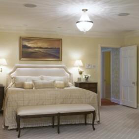 appliques dans la chambre au-dessus des idées de conception de lit
