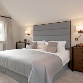 applique dans la chambre au-dessus des idées de conception de lit
