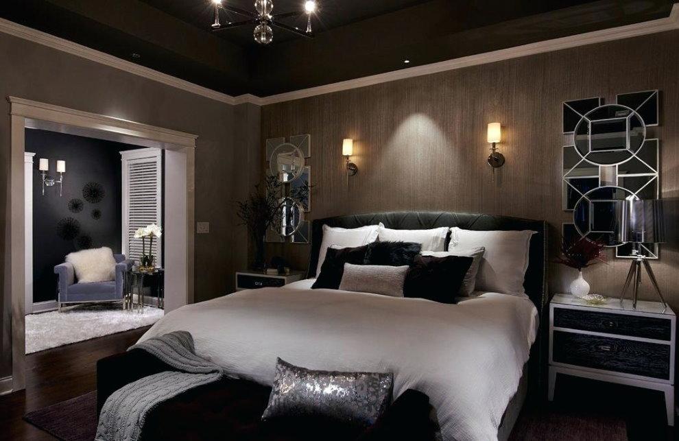 Éclairage nocturne dans une chambre moderne