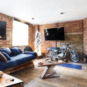 salon moderne dans des idées d'idées d'appartement