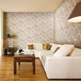papier peint papier dans le salon