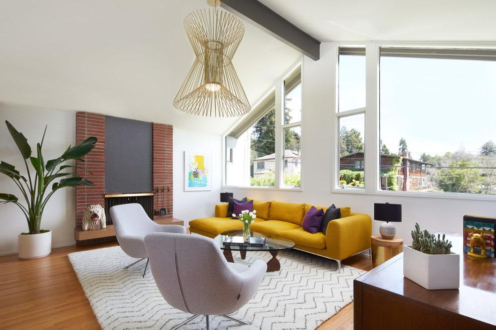 canapé d'angle moderne dans le salon