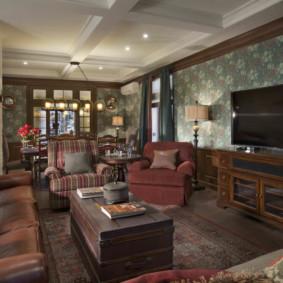 salon moderne dans l'appartement sortes d'idées