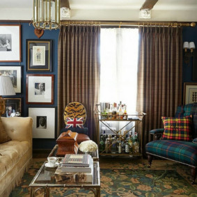 salon moderne dans l'appartement photo espèces