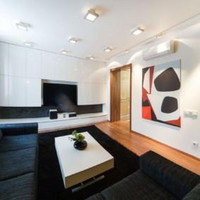 conception de mur dans les options de salon