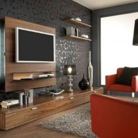 conception de mur dans les options de photo du salon