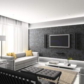 conception de mur dans les vues du salon