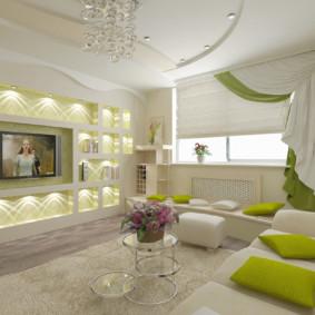 conception de mur dans le salon