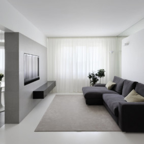design mural minimaliste dans le salon