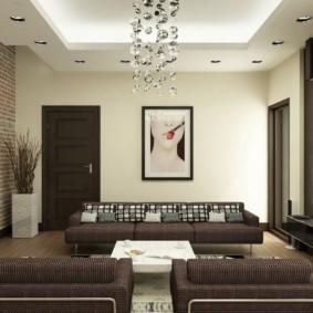 design mural dans un salon moderne