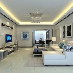 conception de mur de salon de haute technologie