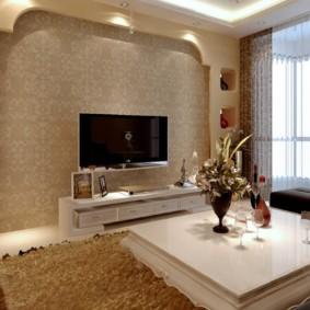 conception de mur dans le salon photo