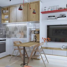 studio 30 m² cuisine
