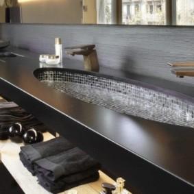 mặt bàn bằng đá acrylic màu nâu sẫm