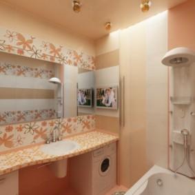Vòi hoa sen trong phòng tắm rộng rãi