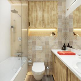 Niche chiếu sáng trong tường phòng tắm