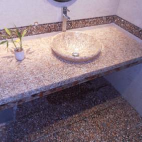Đá nhân tạo trong nội thất phòng tắm