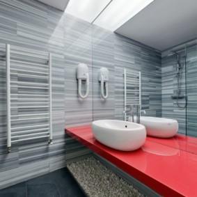 Trang trí phòng tắm trong một căn hộ hiện đại