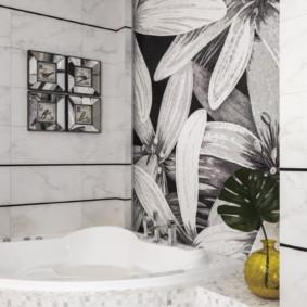Murale à l'intérieur de la salle de bain