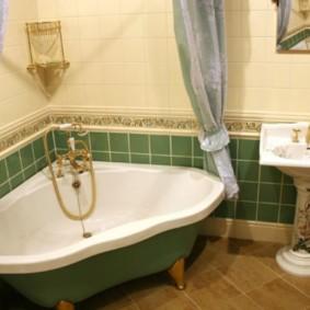 Mitigeur bain d'angle doré