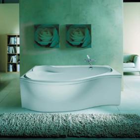 Décor de peintures modulaires de l'intérieur de la salle de bain