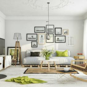 Décor photographies mur mur sur canapé