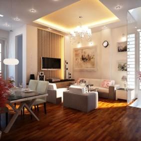 Éclairage de salon de 25 mètres carrés