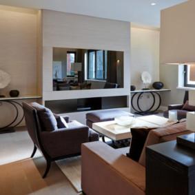 coin salon avec des meubles rembourrés