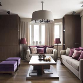 Nội thất phòng khách với hai ghế sofa