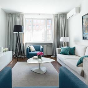 Disposition d'un couloir étroit dans un appartement moderne
