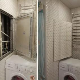 Toit ouvrant caché au-dessus de la machine à laver