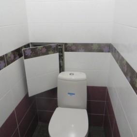 Porte secrète dans la niche derrière les toilettes