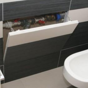 Trappe à charnière sous la salle de bain dans la salle de bain combinée
