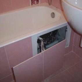 Trappe d'accès à la salle de bain