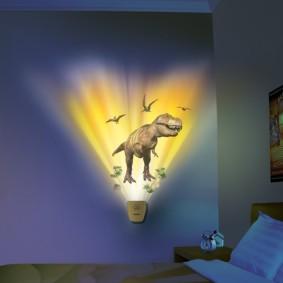 Veilleuse murale à projection