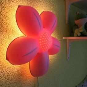 Lampe de nuit murale avec boîtier en plastique