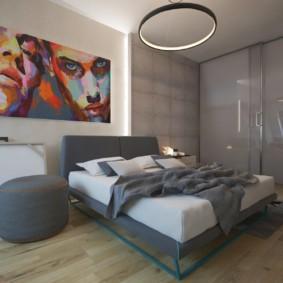 Affiche lumineuse à l'intérieur de la chambre