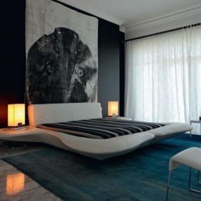 Atmosphère futuriste d'une chambre high-tech