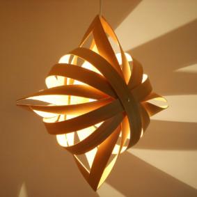 Veilleuse design en placage de bois