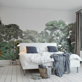Papier peint à l'intérieur d'une chambre à coucher