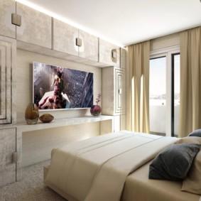 Intérieur de la chambre aux couleurs claires