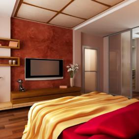 Portes coulissantes entre la chambre et le balcon