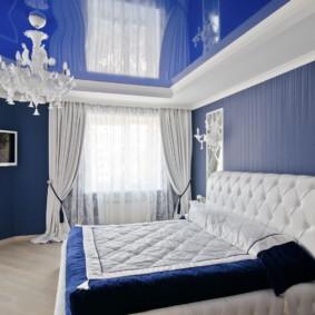 Plafond tendu bleu