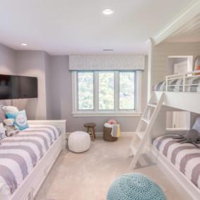 Conception d'une chambre d'enfant avec un lit superposé