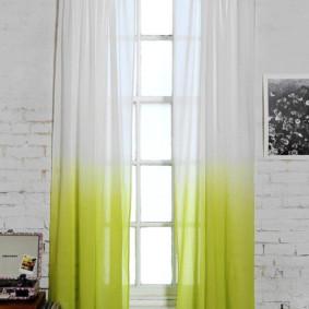 transition de couleur sur les rideaux en tulle